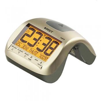 """Радиоконтролируемые часы с будильником RST 88115, цвет """"шампань"""""""