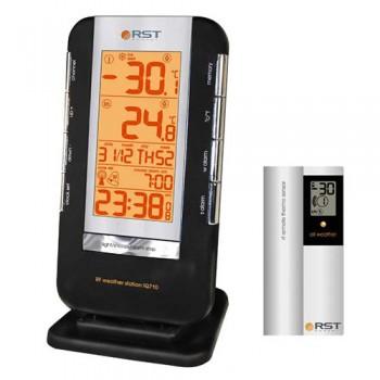 Термометр цифровой RST 02710 с радиодатчиком, часы, прорезиненный корпус, календарь