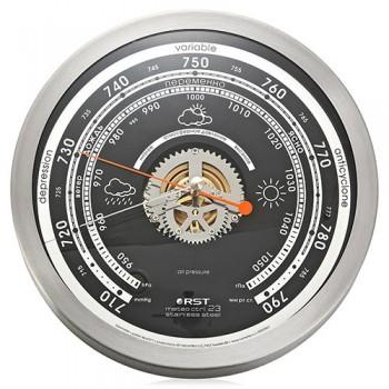 Барометр RST 07823 Meteo ctrl 23. Нержавейка, диаметр 208 мм, глубина 41 мм