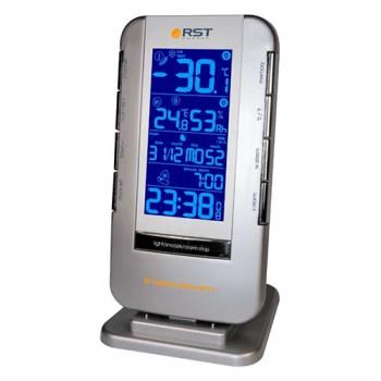 Термометр цифровой RST 02711 с радиодатчиком, часы, гигрометр