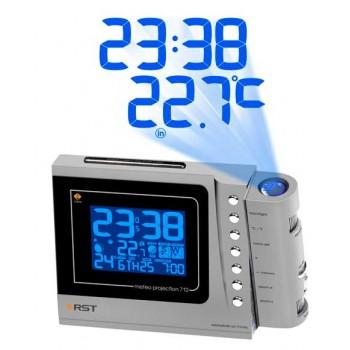 Проекционная погодная станция Meteo projection 712, RST 32712. Цвет проекции синий