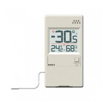 """Оконный термогигрометр RST 01595 с выносным термосенсором, цвет """"слоновая кость"""""""
