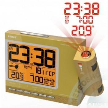 Проекционные часы RST 32754, цвет золотой