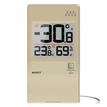 """Оконный термогигрометр RST 01596 с выносным термосенсором, цвет """"шампань"""""""