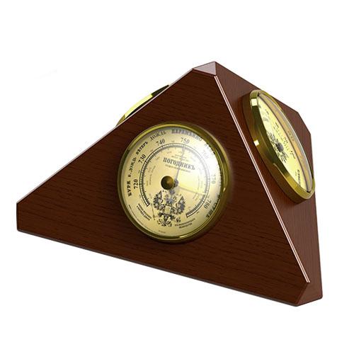 "Барометр Погодник RST 05347 ""Пирамида"", размер 70х210х110 мм"