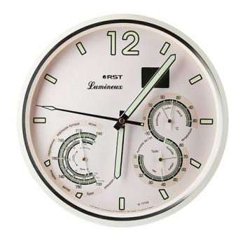 Часы настенные, метеостанция RST 77745 (часы, барометр, термометр, гигрометр, дата)