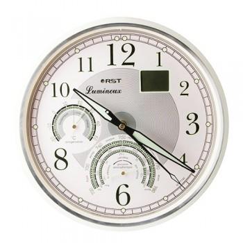 Часы настенные, метеостанция RST 77746 (часы, барометр, термометр, дата)