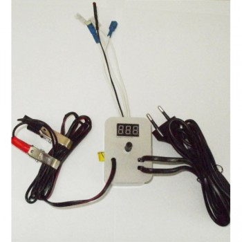 Терморег. аналог. автомат 220В (автоперекл. на 12В) с цифр. измер. темп. №2 (арт.74) (к инкубаторам №74,75,76,77)