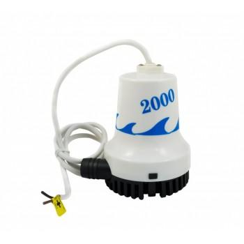 Насос трюмный погружной Vodotok WWB-06928, (12/24В, 190л/мин, H-5м, вып.отв. 32мм, кабель 1.2м).