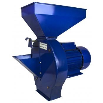 """Зернодробилка """"Дон"""" КБЭ-180Т с овощерезкой (1,8 кВт, зерно 180кг/час, корнеплоды 660 кг/час, асинхр.двигатель)."""