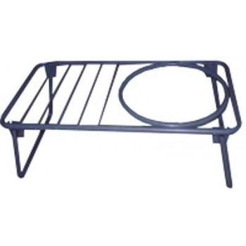Костровая подставка для казана №2 (столик с решёткой, отверстием и складными ножками) в чехле Риф