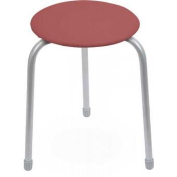 Табурет Ника Классика ТК01 (тёмно-красный) на 3-х опорах, сиденье круглое 310мм, фанера, винилискожа