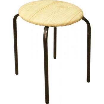 Табурет на 4-х опорах (Чебоксары), сиденье круг d320мм, фанера, винилискожа