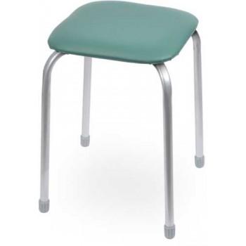 Табурет Ника Классика ТК03 (зелёный) на 4-х опорах, сиденье квадрат 320х320мм, фанера, винилискожа