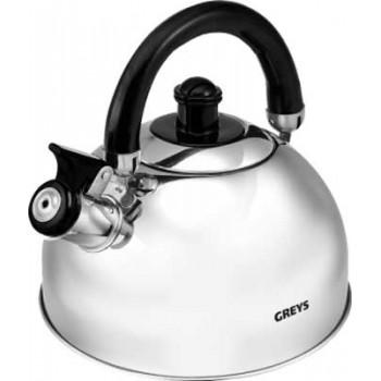 Greys KS-410 Чайник со свистком 2.0л нержавеющая сталь