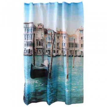 Занавеска для ванной Венеция полиэстер (180*180см), 12 крючков в комплекте 000873