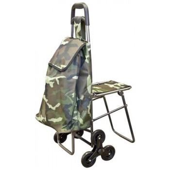 Сумка-тележка с откидным стулом C302, 50 кг (55*35*20 см) (093535)
