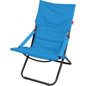 Кресло-шезлонг складное с матрасом Ника Haushalt HHK4/B Цвет-Blue (Синий)