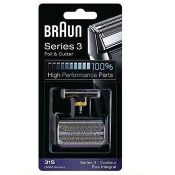 31S Сетка Braun FlexIntegral/Contour series 5000 series в сборе+нож (31S) тип 81253263 (5724764)