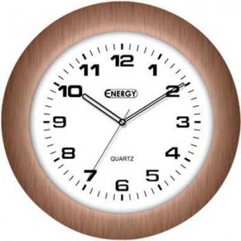 Часы настенные кварцевые Energy EC-13 круглые (30.0*8.0 см) белый циферблат (009313)