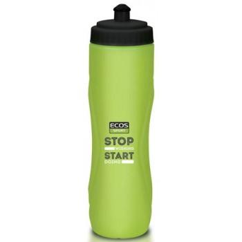 Бутылка для воды ECOS VEL-27G 750мл (зеленая) крепится в держатель на велосипеде