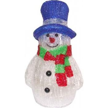 Фигура с подсветкой-снеговик 1