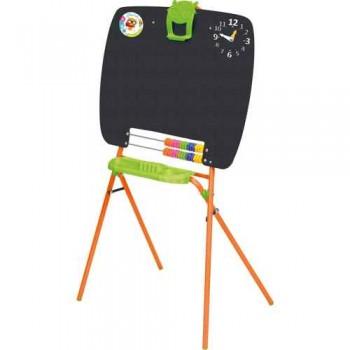 Мольберт детский односторонний Ника М (цвет каркаса - Оранжевый) для рисования мелками