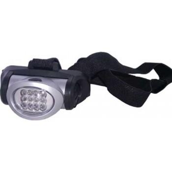Фонарь налобный (LED-12) светодиодный пластмассовый