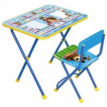 Комплект детской мебели Ника КП2/2 (для 3-7 лет) тема Маша и Медведь.Азбука-2