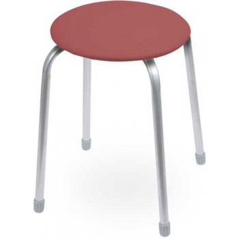 Табурет Ника Классика ТК02 (тёмно-красный) на 4-х опорах, сиденье круглое 320мм, фанера, винилискожа