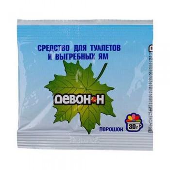 Порошок Девон-Н 30г (для биотуалетов, выгребных ям, удаления запахов и загрязнений)