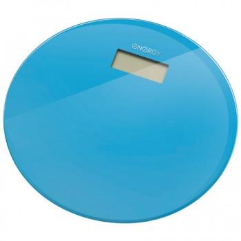 Energy EN-420 RIO (стекло) Электронные напольные весы до 180кг, форма-круг, голубые