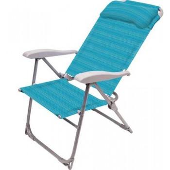 Кресло-шезлонг складное Ника К2 Цвет - Бирюзовый