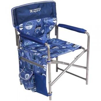 Кресло складное Ника КС1 Цвет - Джинс/Синий