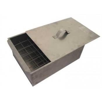 Коптильня двухъярусная Стандарт Плюс (сталь 0.8мм) 480х280х170мм с поддоном для сбора жира