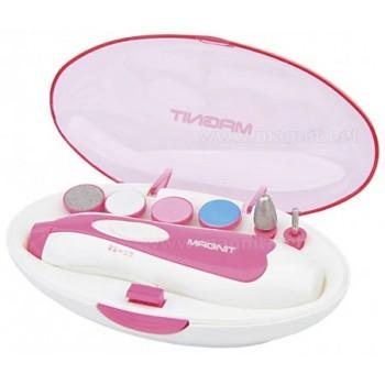 Набор для маникюра и педикюра Magnit RMQ-2002 батареечная, 6 съемных насадок (розовый)