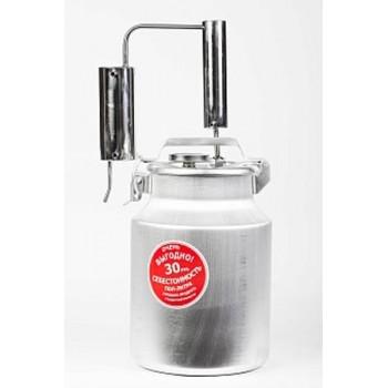Дистиллятор ПЕРВАЧ (Самогонный аппарат) Народный Классик 10Т 10л, алюминий, проточный с сухопарником, термометр