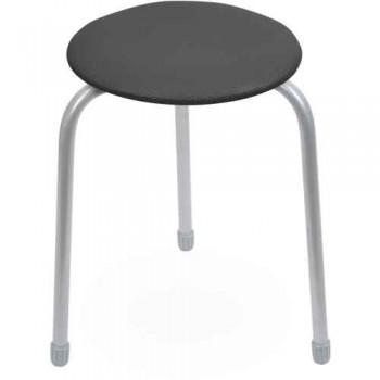 Табурет Ника Классика ТК01 (чёрный) на 3-х опорах, сиденье круглое 310мм, фанера, винилискожа