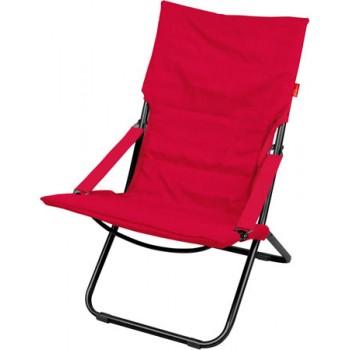 Кресло-шезлонг складное с матрасом Ника Haushalt HHK4/R Цвет-Винный (Красный)