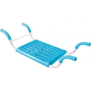 Сиденье в ванну СВ4 (бирюза) пластмассовое нераздвижное с металлическим каркасом