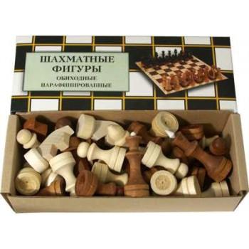 Шахматы деревянные Обиходные парафинированные  Р-4 в комплекте с доской