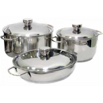 Набор посуды АМЕТ КЛАССИКА-ПРИМА Арт.1с1001 (6 предметов, нерж.сталь, дно ТРС-3)