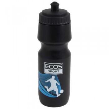 Бутылка для воды ECOS VEL-29 750мл (черная) крепится в держатель на велосипеде (000841)