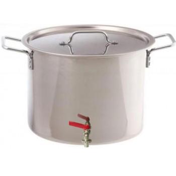 Бак для воды Амет 1с2490 с крышкой и краном 30л (нержавеющая сталь)