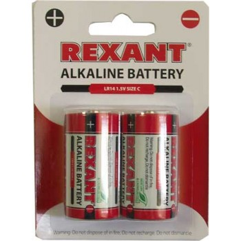 Батарейка Rexant (С) LR14 (2 шт. в уп.)