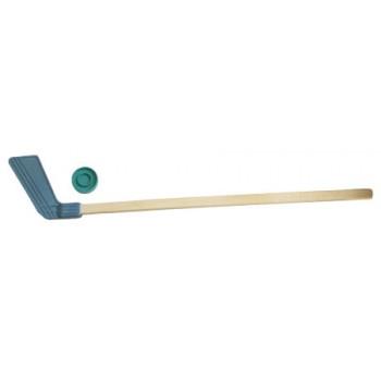 Набор для игры в хоккей с шайбой: 1 клюшка + 1 шайба (дерево, пластик, уп-ка европодвес)