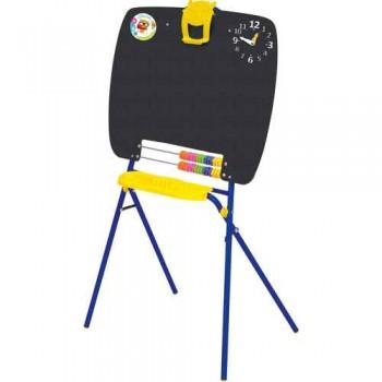 Мольберт детский односторонний Ника М (цвет каркаса - Синий) для рисования мелками