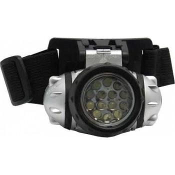 Фонарь налобный (LED-14) светодиодный пластмассовый круглый
