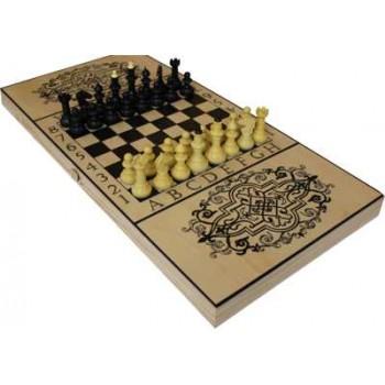 Игра Три в одном В-7 (3 в 1, нарды, шахматы, шашки, материал-дерево)