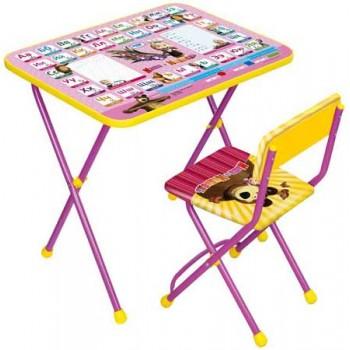 Комплект детской мебели Ника КП2/3 (для 3-7 лет) тема Маша и Медведь.Азбука-3